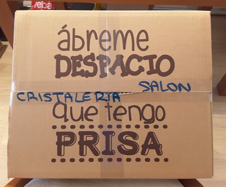 Cajas carton mudanzas cristal embalajes caja cristaleria  glass box moving boxes removals