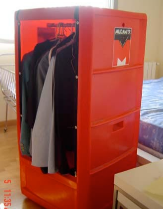 caja armario rígida plastico perchero ropero box wardrobe boxes closet