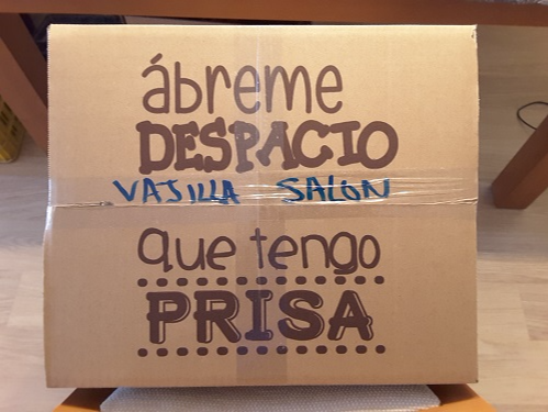 Cajas carton mudanzas vajilla embalajes caja platos Dishware dishes box moving boxes crockery removals