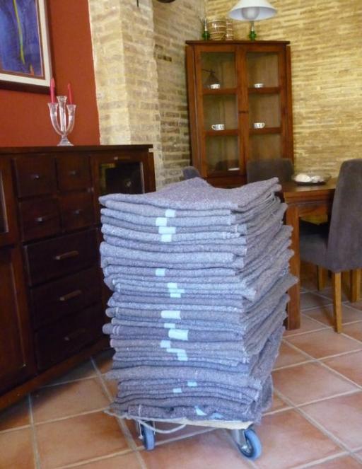 mantas especiales para protección muebles embalaje mudanzas