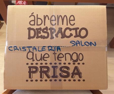 Cajas carton mudanzas cristal embalajes caja cristaleria  glass box moving boxes removals