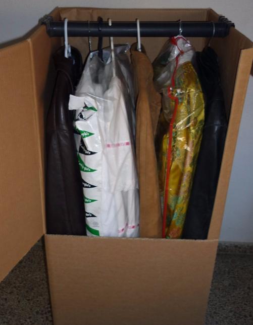caja armario rígida carton perchero ropero box wardrobe boxes closet