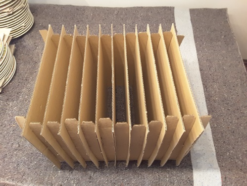 Cajas carton mudanzas vajilla embalajes caja platos Dishware dishes box moving boxes crockery removals